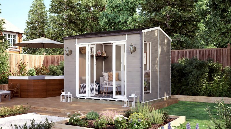 10ft x 8ft pressure treated modular cannes summerhouse